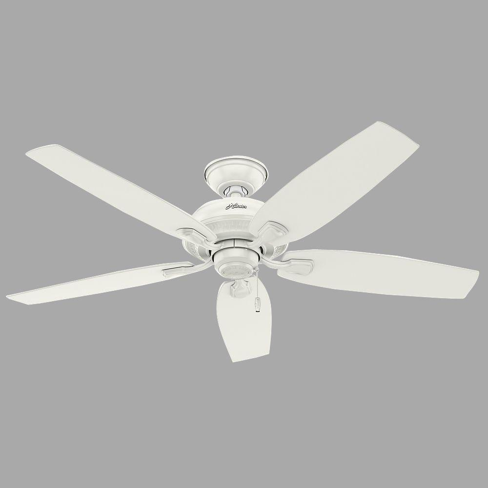 Hunter Tidewater 52 In Indoor Outdoor Fresh White Ceiling