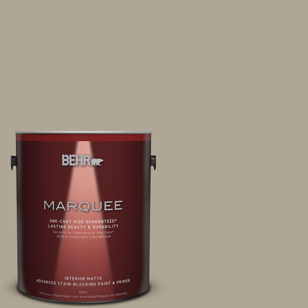 1 gal. #PPU8-19 Stone Walls One-Coat Hide Matte Interior Paint