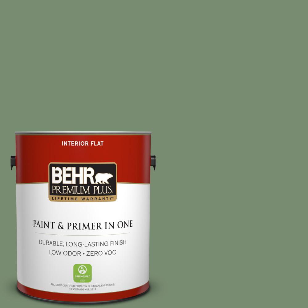 1 gal. #PPU11-02 Shallot Bulb Zero VOC Flat Interior Paint