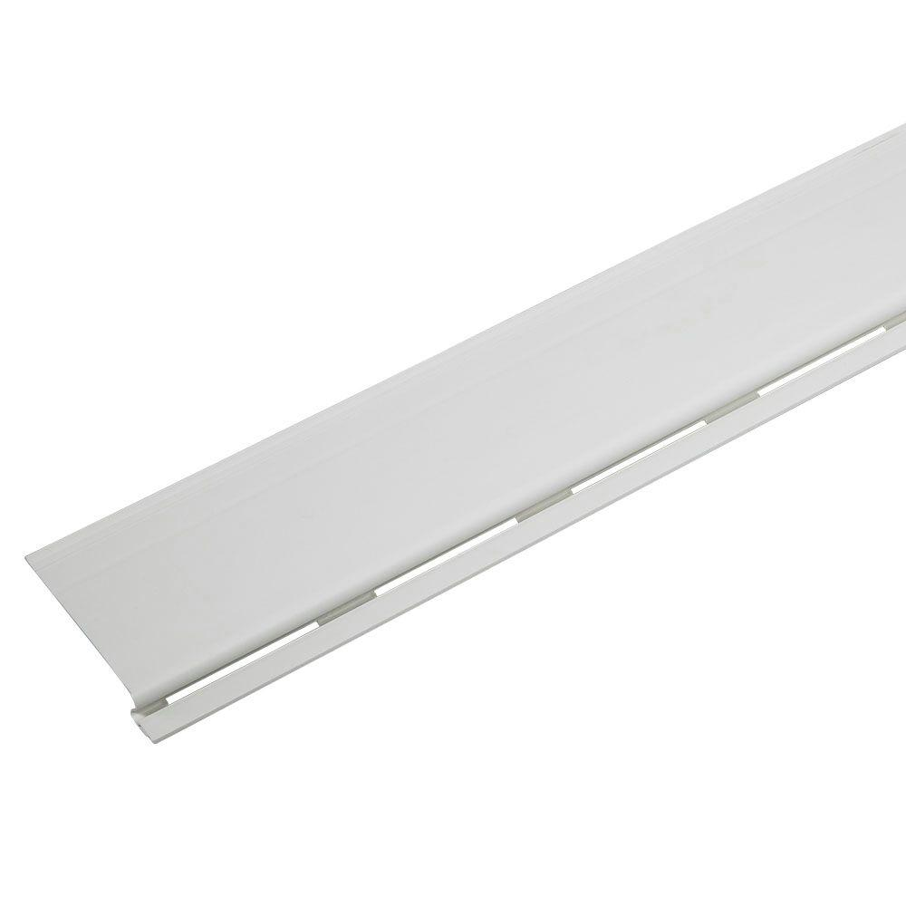 4 ft. White Solid Gutter Cover