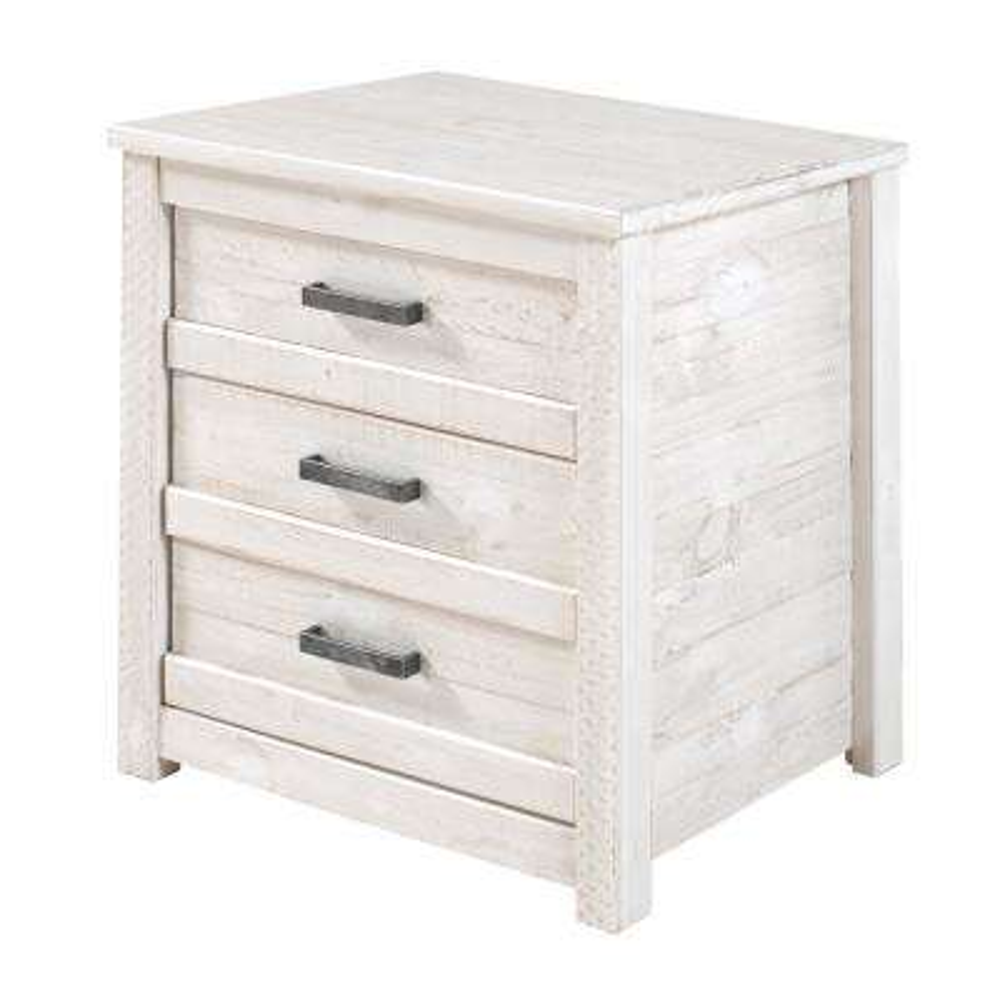 Carmel 3-Drawer Antique White Nightstand