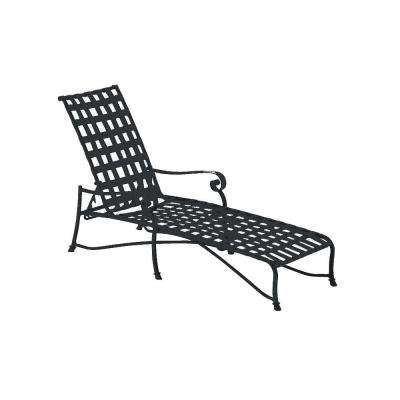 Vallero Crossweave Contract Black Patio Chaise Lounge