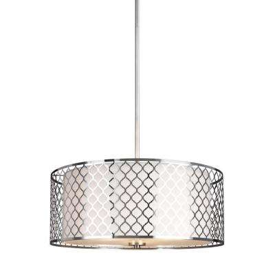 Jourdanton 3-Light Brushed Nickel Pendant Lighting