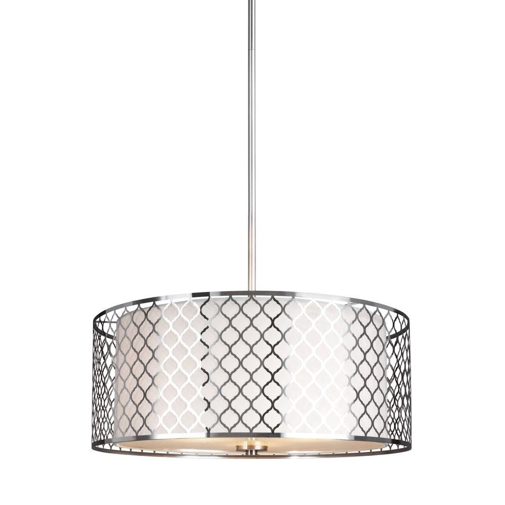 seagull pendant lighting. Sea Gull Lighting Jourdanton 3-Light Brushed Nickel Pendant Lighting-6515503-962 - The Home Depot Seagull