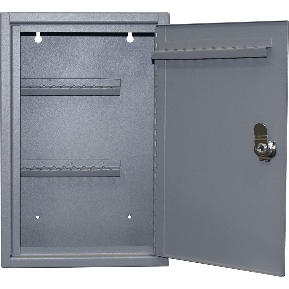 Sparco 0 15 Cu Ft Steel Hook Design Key Cabinet In Gray Spr15601 The Home Depot