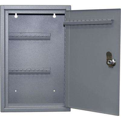 0.15 cu. ft. Steel Hook Design Key Cabinet in Gray