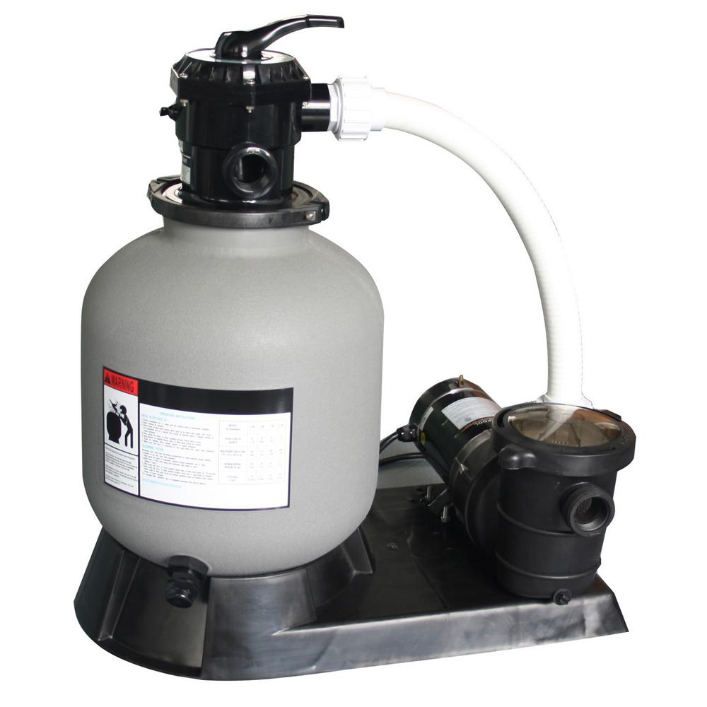 16 in. Sand Filter and 1 HP Motor for Above Ground