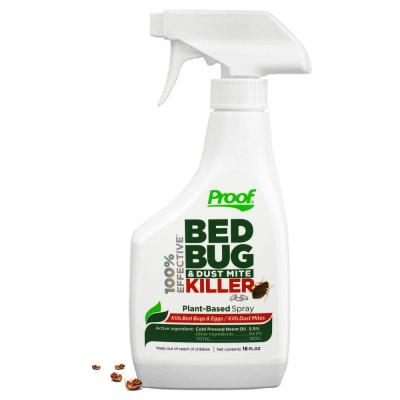 Proof Bed Bug and Dust Mite Killer Spray, 100% Effective Lab Tested Sold Individually or (6-Pack)