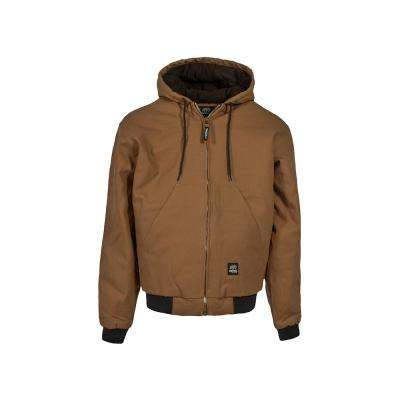 Men's Extra Large Tall Brown Duck 100% Cotton Original Hooded Jacket