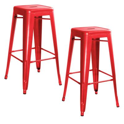 Incredible Metal Red Bar Stools Kitchen Dining Room Furniture Cjindustries Chair Design For Home Cjindustriesco