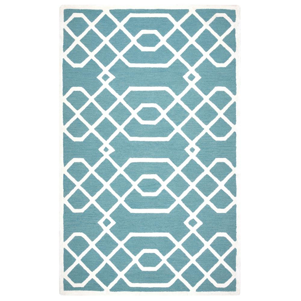 Rizzy Home Monroe Aqua Blue 8 Ft. X 10 Ft. Area Rug