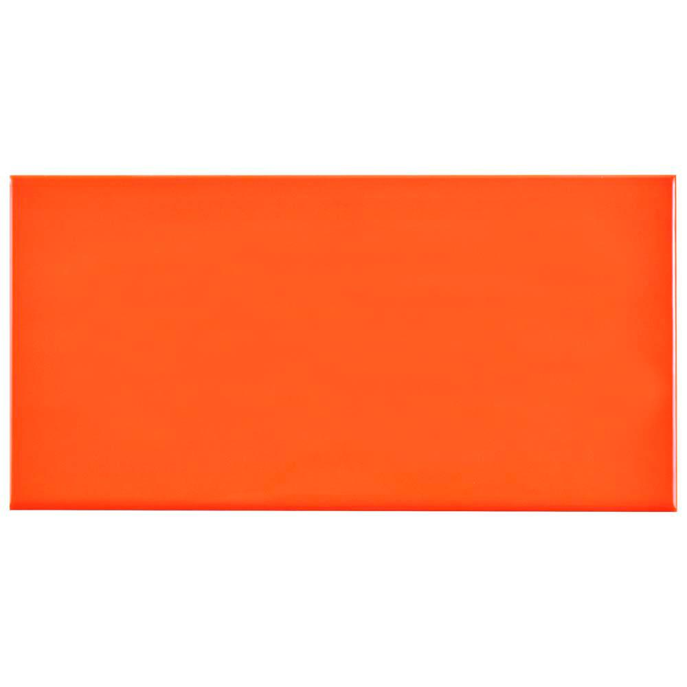 Merola tile park slope subway glossy tangerine orange 3 in x 6 in merola tile park slope subway glossy tangerine orange 3 in x 6 in ceramic wall tile 17 sq ft case wxr3psto the home depot dailygadgetfo Choice Image