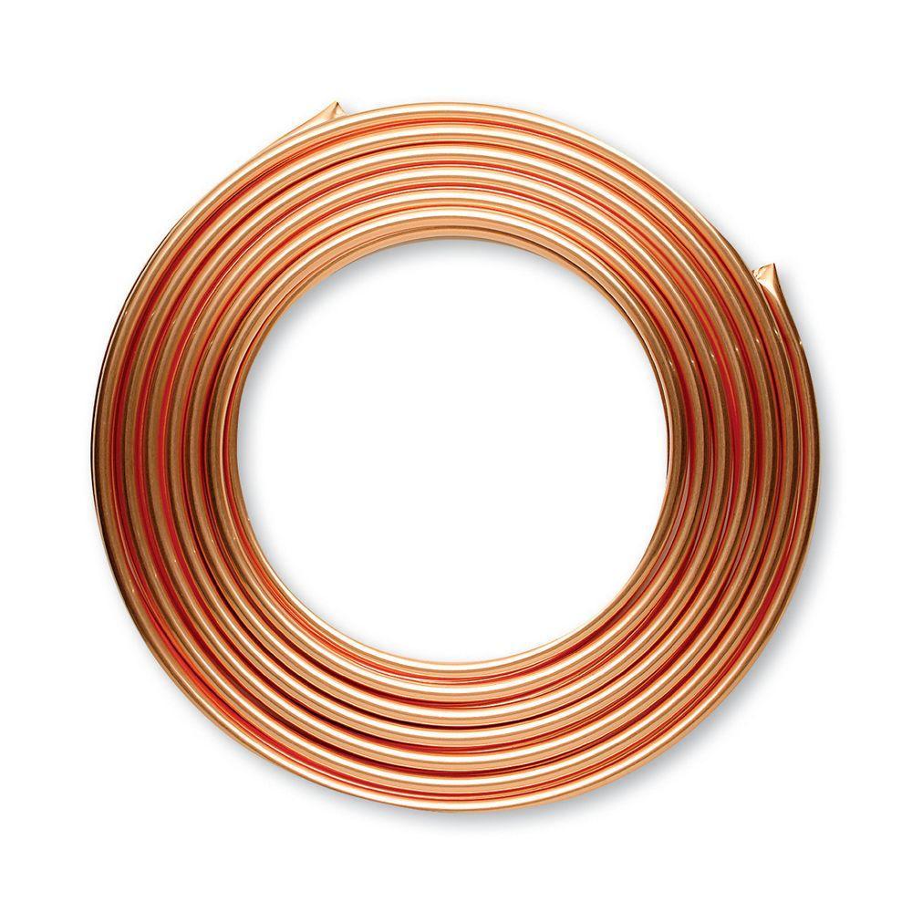 1/2 in. I.D. x 20 ft. Type L Soft Copper Coil Tubing (5/8 in. O.D.)
