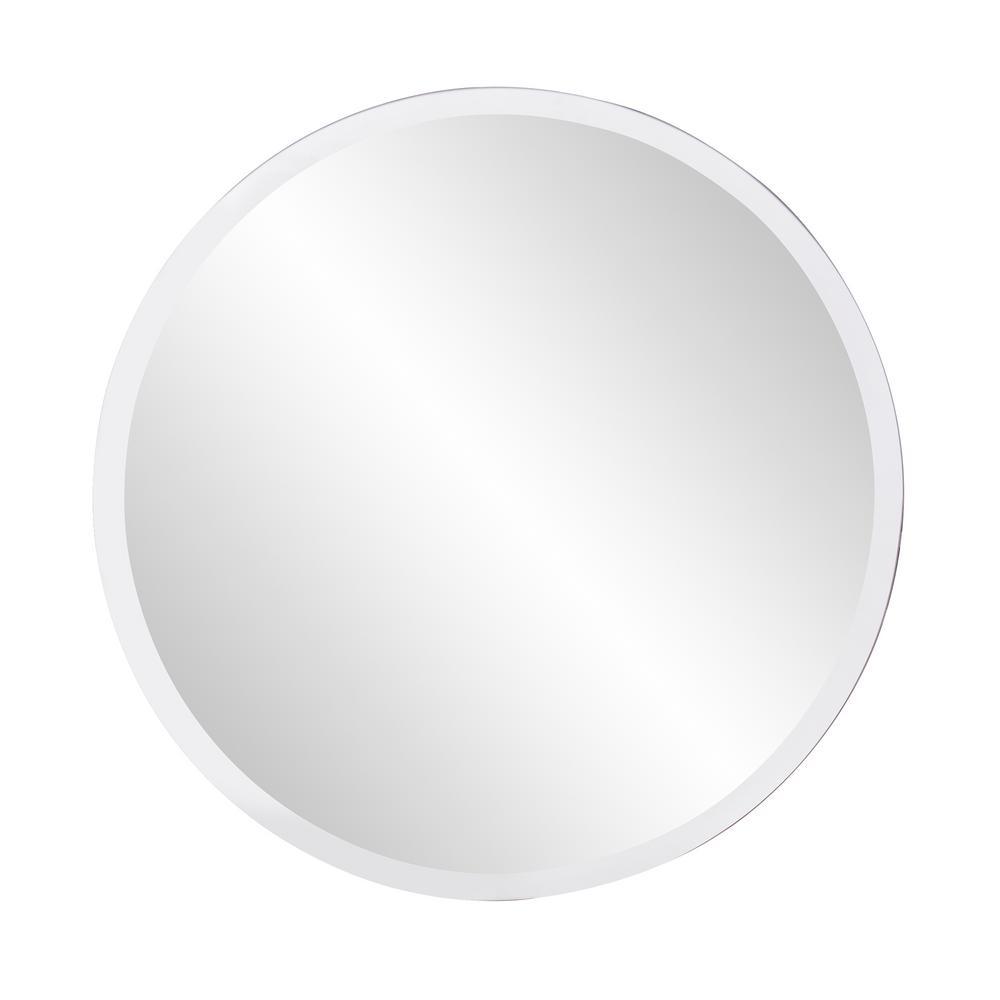 28 in. x 28 in. Round Frameless Mirror