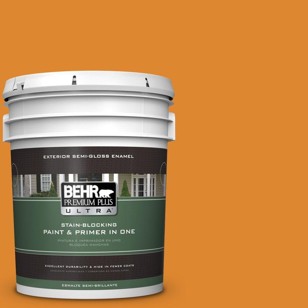 5-gal. #280B-7 Status Bronze Semi-Gloss Enamel Exterior Paint