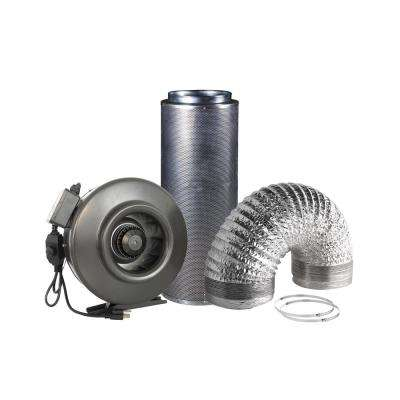 1072 CFM 12.5 in. Centrifugal inline Duct Fan with Carbon Filter and Aluminum Ducting for indoor Garden Ventilation