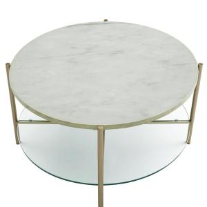 Miraculous Walker Edison Furniture Company 32 In White Marble Top Lamtechconsult Wood Chair Design Ideas Lamtechconsultcom