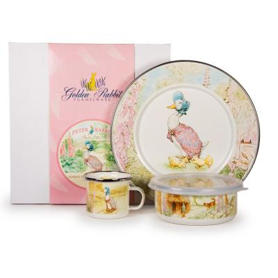 Jemima Puddle-Duck 3-Piece Feeding Set with Plate Bowl and Mug