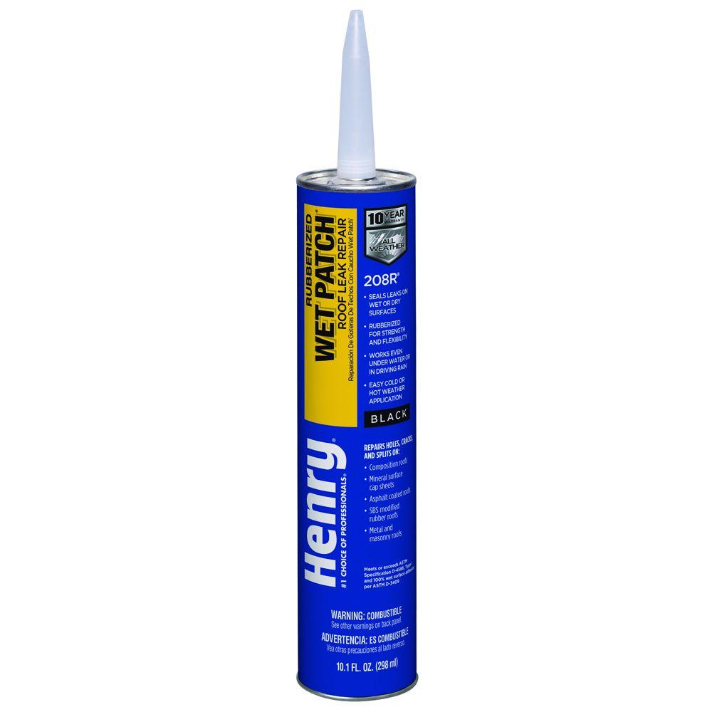 Henry oz rubber wet patch roof cement he r