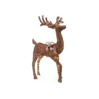 60IN 200L LED ANIMATED BROWN PVC DEER