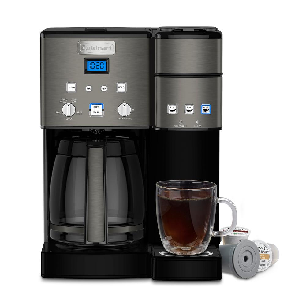 Cuisinart Black Stainless Coffee Center 12 Cup Coffeemaker And Single Serve Brewer
