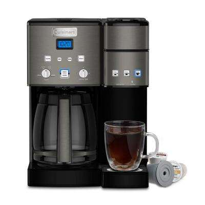 Black Stainless Coffee Center 12-Cup Coffeemaker and Single-Serve Brewer