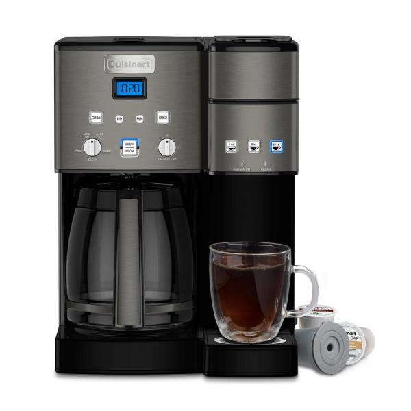 Cuisinart Combo 12 Cup and Single Serve Coffee Maker - Ss-15 - Black Stainless