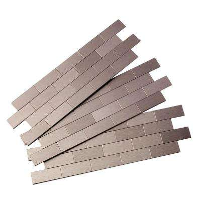 Subway Matted 12 in. x 4 in. Metal Decorative Tile Backsplash in Brushed Stainless (1 sq. ft.)