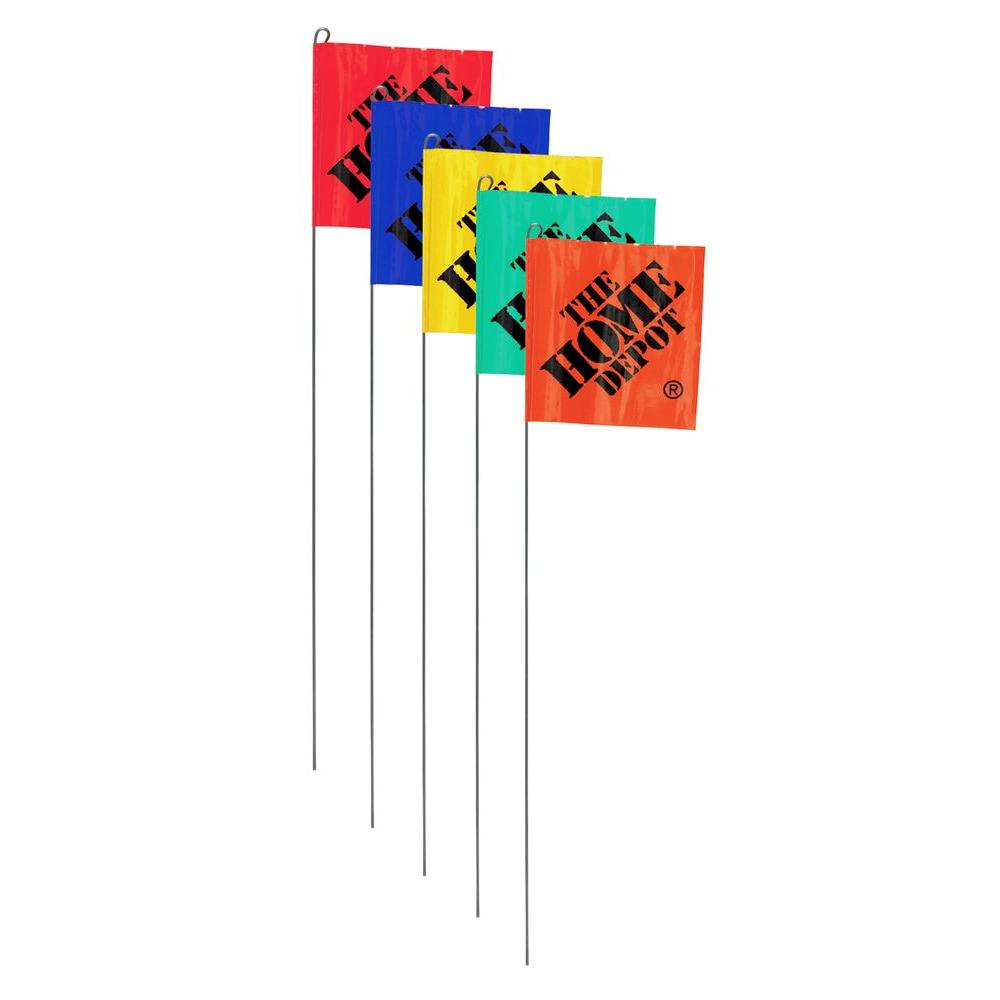 15 In Irrigation Flags 10 Pack 53314 The Home Depot