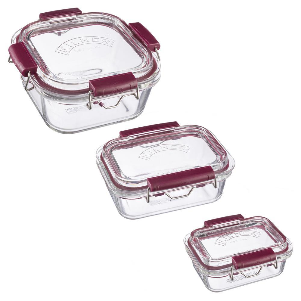 Fresh Storage 6-Piece Glass Container Set