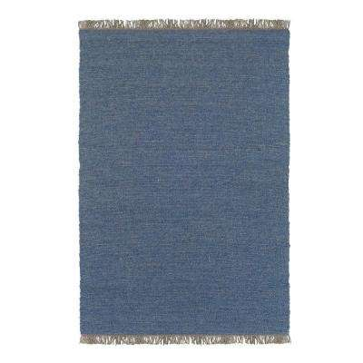 Verginia Berber Denim Blue 8 ft. x 10 ft. Indoor Area Rug