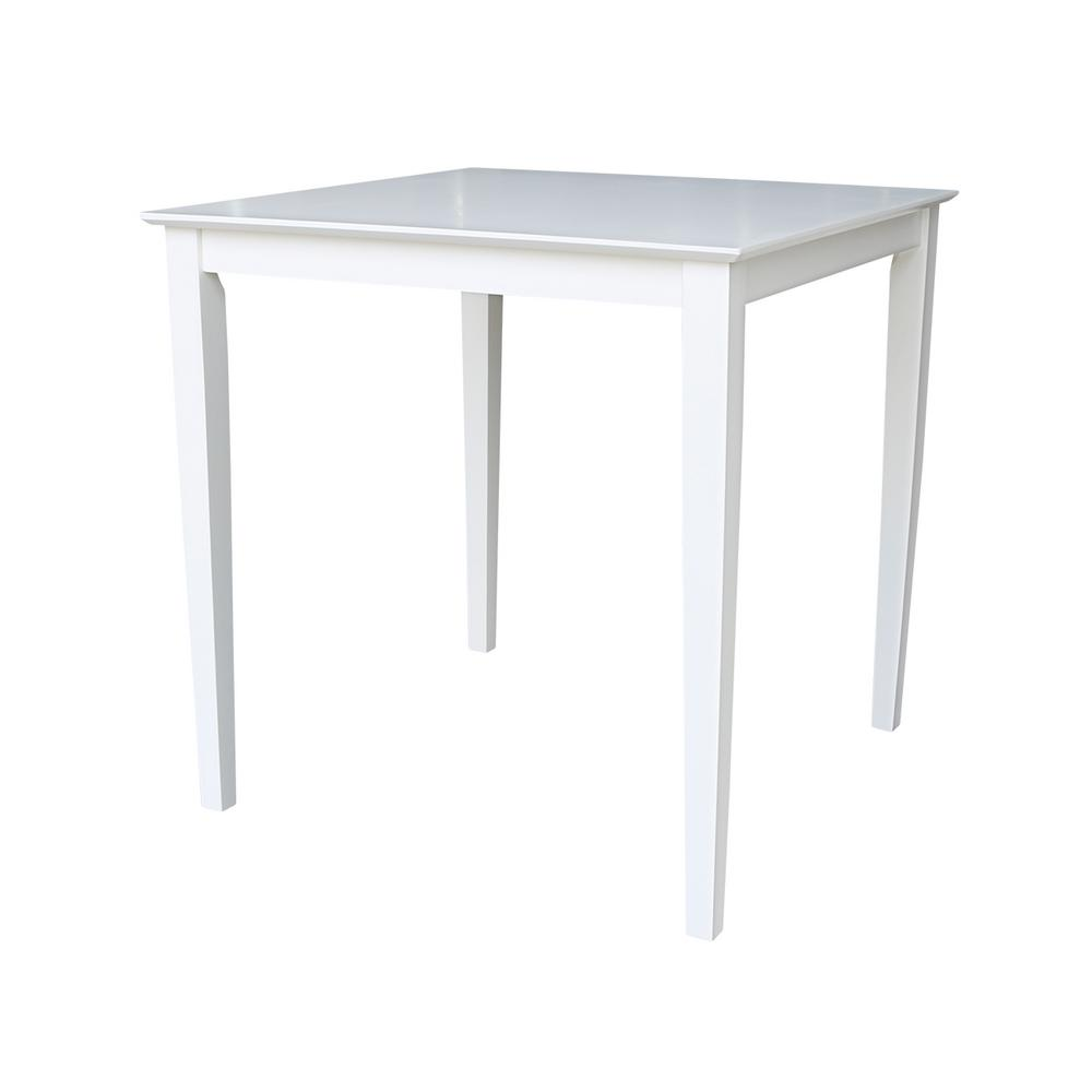 36 in. Pure White Shaker Counter Height Table