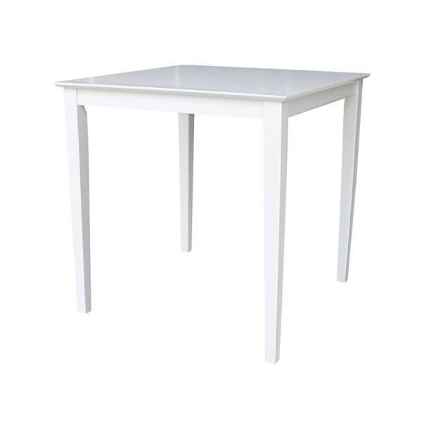 International Concepts 36 in. Pure White Shaker Counter Height Table