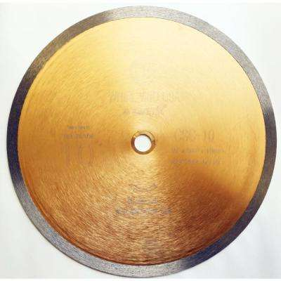 10 in. Continuous Rim Diamond Saw Blade for Tile Wet Cutting