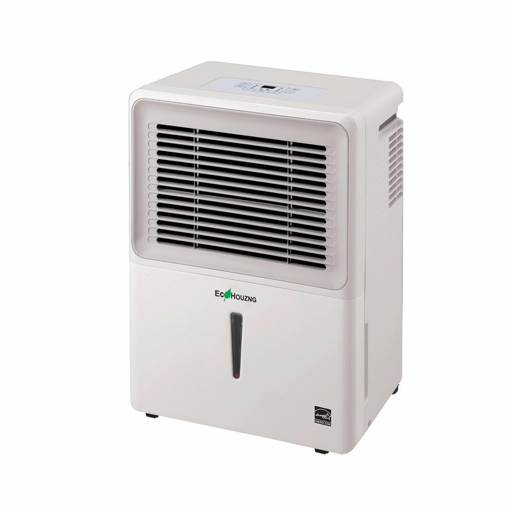 Homevision Technology Ecohouzng 70-Pint Dehumidifier, Whites Ecohouzng ECH1070 Dehumidifier is a new line of Energy Star rated portable dehumidifier. Lightweight and heavy-duty casters allow their ultra-portable dehumidifier to be moved and placed almost anywhere. Keeping with their tradition of making energy efficient product. In addition to portability and energy efficiency, they've added the low temperature operation to their feature packed dehumidifier line. Color: Whites.