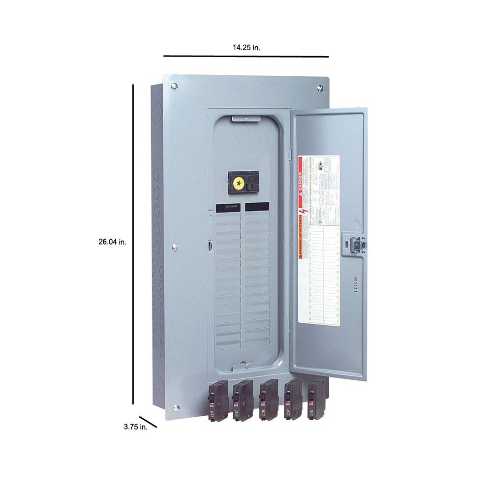 Square D by Schneider Electric QO2100NRBCP QO 100 Amp Two-Pole Outdoor Circuit Breaker Enclosure with QO2100 Breaker Included