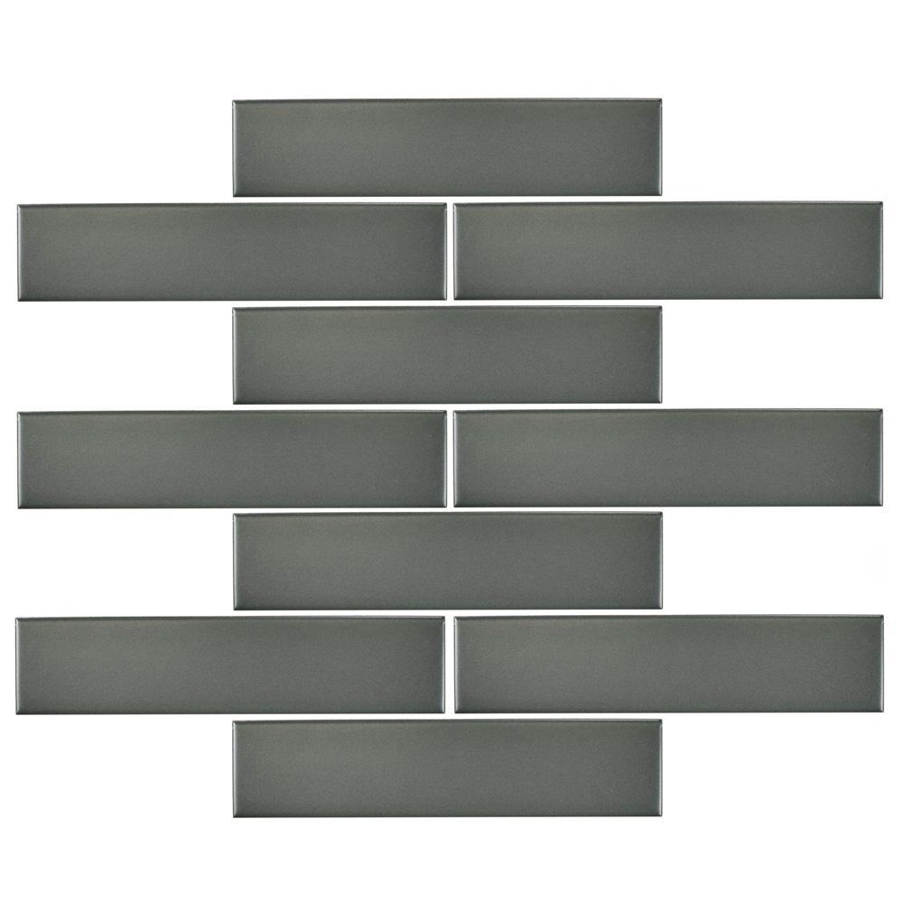 Merola Tile Metro Soho Subway Matte Grey 1 3 4 In X 7