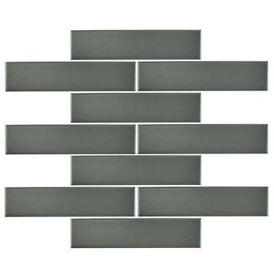 Metro Soho Subway Matte Grey 1-3/4 in. x 7-3/4 in. Porcelain Floor and Wall Tile (1 sq. ft. / pack)