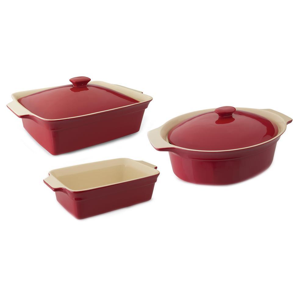 Geminis 5-Piece Stoneware Bakeware Set