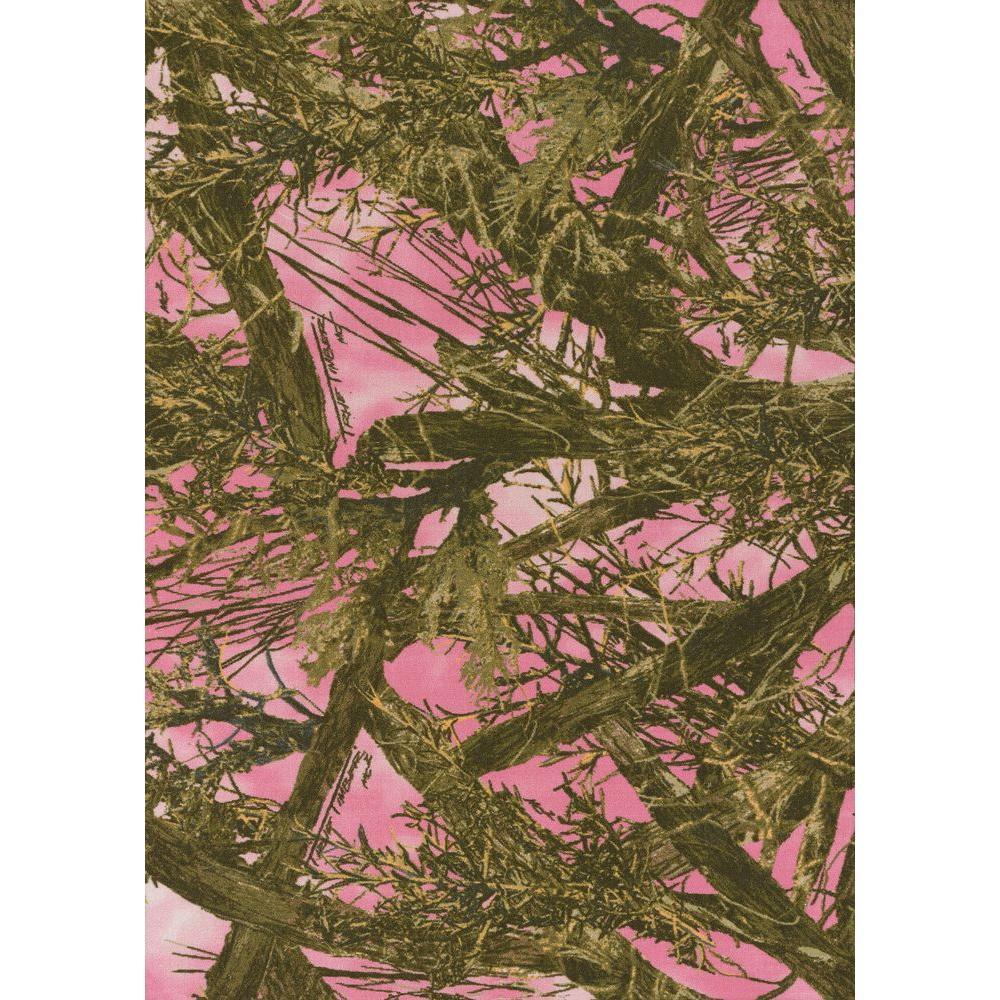 True Timber Pink 1 ft. 6 in. x 2 ft. 5 in. Indoor Area Rug