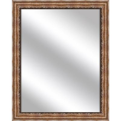 Medium Rectangle Gold Art Deco Mirror (32.375 in. H x 26.375 in. W)