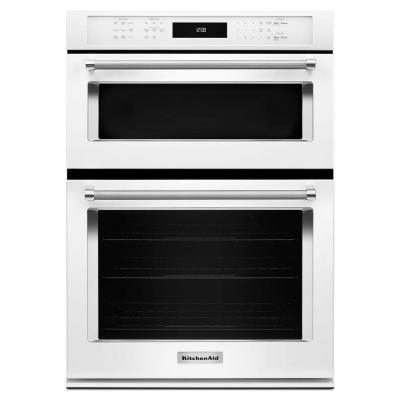 27 in. Electric Even-Heat True Convection Wall Oven with Built-In Microwave in White