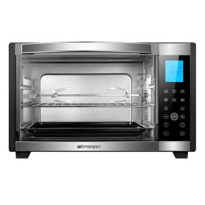 6 Slice Black And Stainless Convection Rotisserie Counter Top Toaster Oven With Digital Control Panel