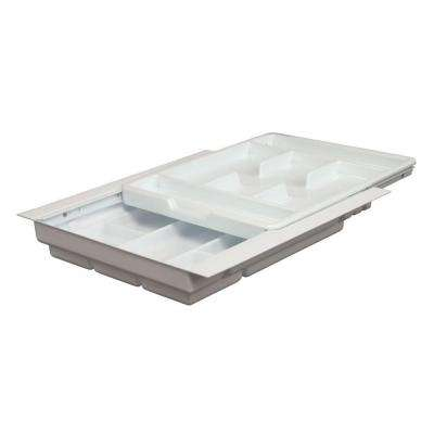 3.25 in. x 17.75 in. x 19.25 in. Double Tiered Tableware Drawer Organizer