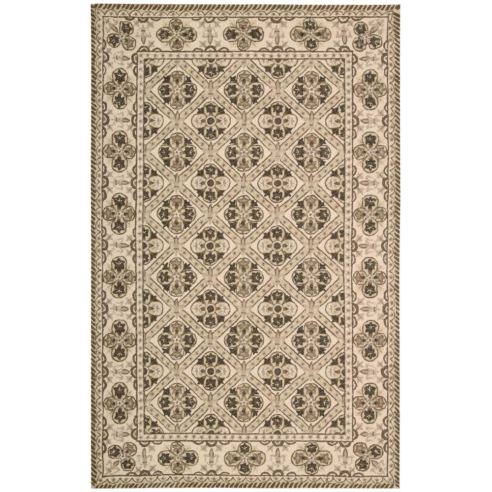 Overstock Area Rugs: Nourison Overstock Country Heritage Brown 5 Ft. X 8 Ft