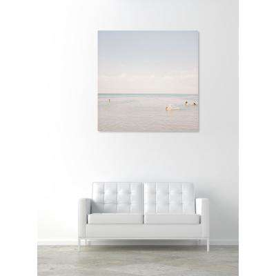 24 in. x 24 in. 'Beach Party' by Oliver Gal Printed Framed Canvas Wall Art