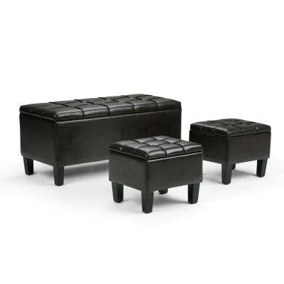 Dover Tanners Brown Ottoman Bench