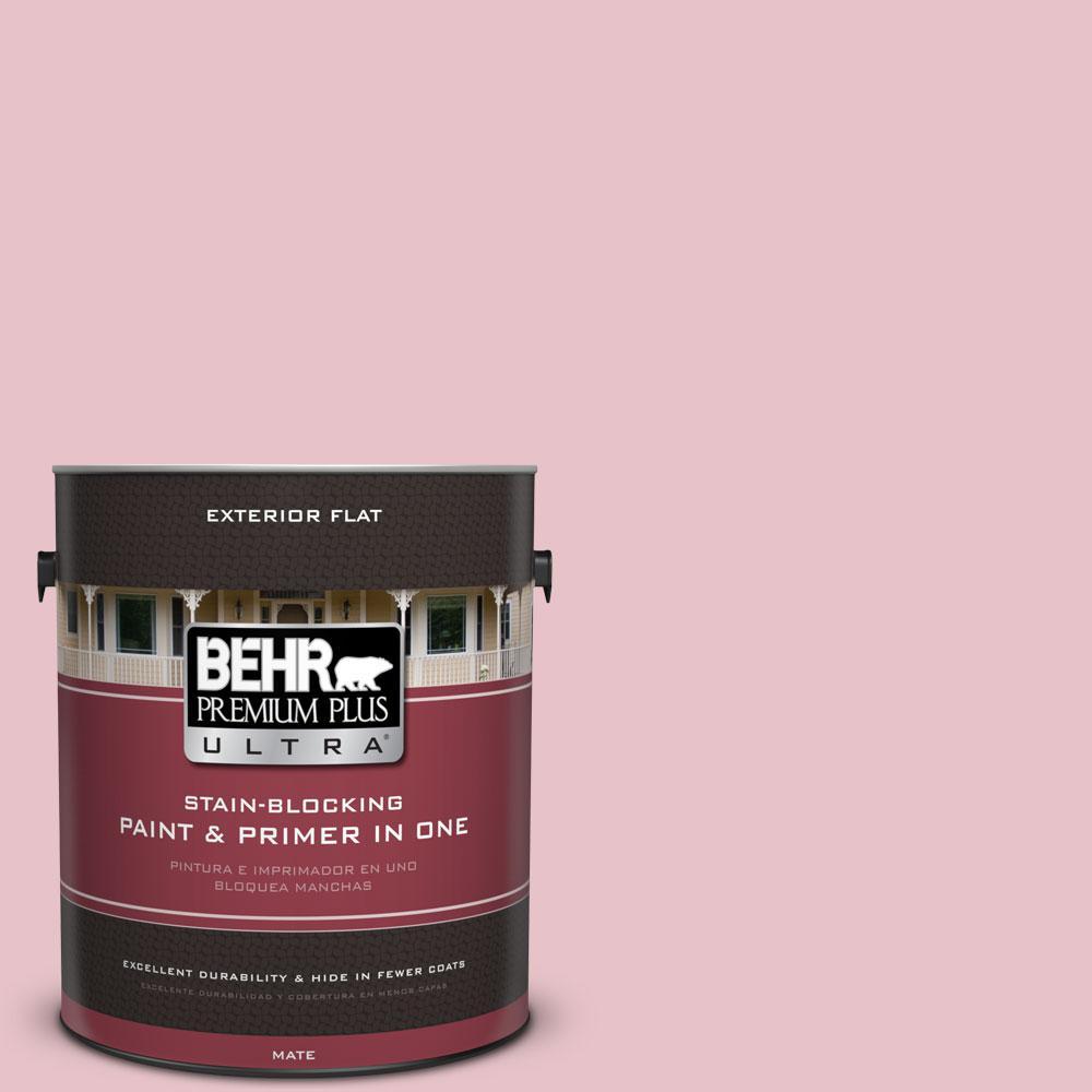 1-gal. #S140-2 Cranapple Cream Flat Exterior Paint
