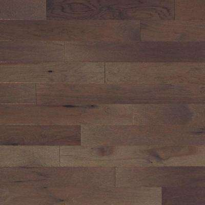 Take Home Sample - Brushed Vintage Hickory Pewter Engineered Click Hardwood Flooring - 5 in. x 7 in.