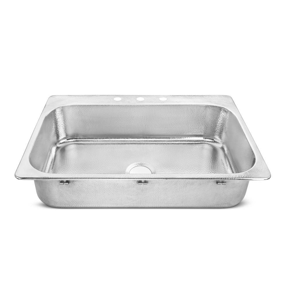 SINKOLOGY Graham Drop-In Crafted Stainless Steel 33 in. Single Bowl Kitchen Sink with Polished Finish